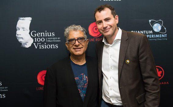Genius 100 Contributor Deepak-Chopra-and Einstein Legacy Project Co-Founder Elan Divon